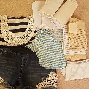 Bundle of 3 shorts tops and belly bands